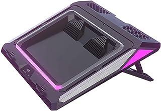 Sunnym ゲーミングノートパソコン用IETS GT300ダブルブロワーラップトップ冷却パッド、ダストフィルターとカラフルなライト付きクーラーパッド
