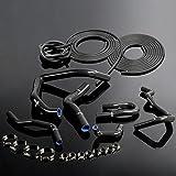 For HONDA CIVIC TypeR EK EG B16A B18C B20B 1992 1993 1994 1995 1996 1997 1998 1999 2000 Silicone Radiator Coolant Hose Kit Clamps + Vacuum Hose Tube Kit Black