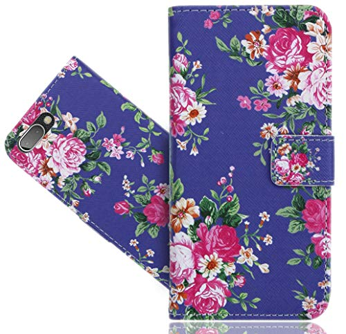 BlackBerry Key 2 / Key Two Handy Tasche, FoneExpert® Wallet Hülle Flip Cover Hüllen Etui Hülle Ledertasche Lederhülle Schutzhülle Für BlackBerry Key 2 / Key Two