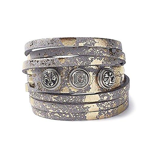 Noosa petite Armband multi wrap stone gold foil, Größe:XS