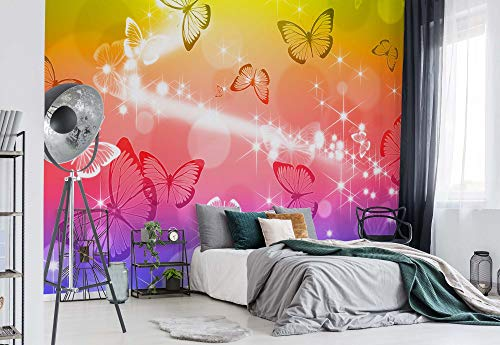 Schmetterlinge - Wallsticker Warehouse - Fototapete - Tapete - Fotomural - Mural Wandbild - (402WM) - XXL - 312cm x 219cm - VLIES (EasyInstall) - 3 Pieces
