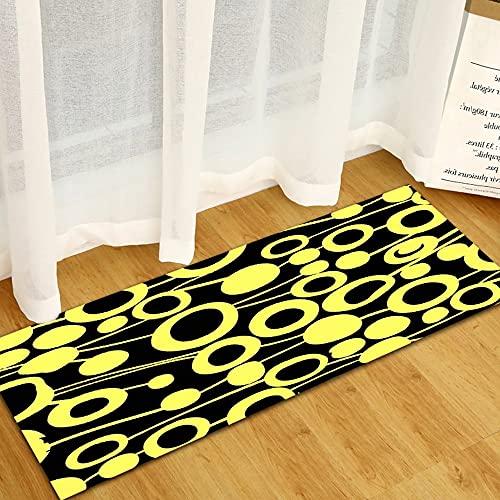 OPLJ Alfombra de piso de cocina para puerta de dormitorio, bahía, pasillo, decoración de suelo, alfombra de baño, antideslizante, A15, 40 x 120 cm