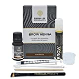 Parallel Products Eyebrow Henna Kit - Henna For Brow Tinting (Dark Brown)
