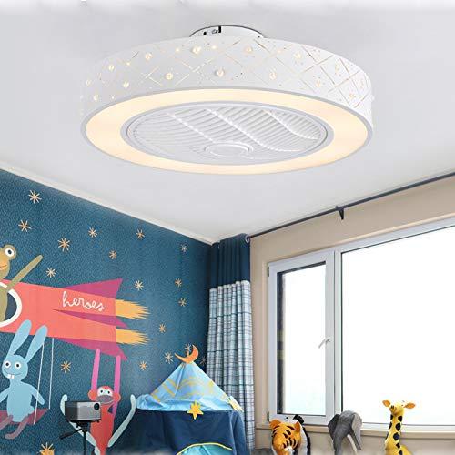 Ouuily 40W Ventilador de Techo con Luz y Mando a Distancia Silencioso Ventilador Invisible Creativo Luz De Techo LED Regulable Lámpara de Araña para Habitación de los Niños, Salón