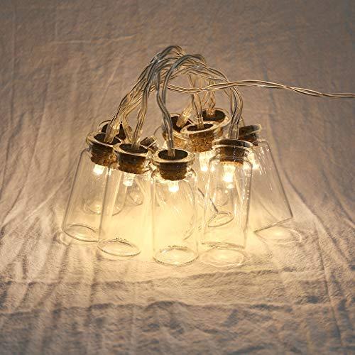 Perlen Drift Flasche Lichterkette, Vorhang Lichterkette Licht Hausparty Dekoration auffallend Perfekt für drinnen und draußen,Weihnachten,Party,Hochzeit,Zuhause,Fenster,Badezimmer,Festival 10 LED