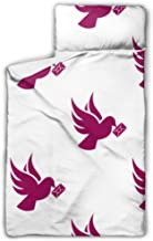HJSHG Kids Sleeping Bag Dove Message Icon Pattern Simple Nap Mat with Pillow for Toddler Boys and Girls,Classic Slumberbag...