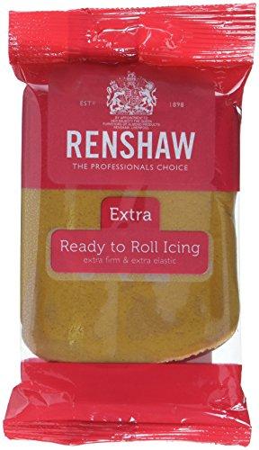 Renshaw Rolled Fondant Extra Teddy Bear braun, 4er Pack (4 x 250 g)