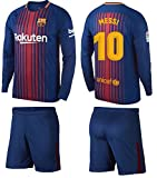 Barcelona Messi Kids #10 Soccer Kit Jersey and Shorts Short Sleeve OR Long