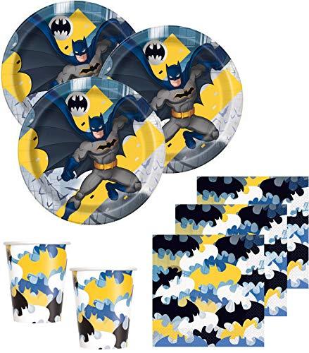 48 Teile Batman Superhero Party Deko Basis Set für 16 Kinder