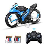 EACHINE E021 Mini Motorrad Drohne Racing 2-In-1 Land/Air Modi,Fliegendes Motorrad 2.4G,Ferngesteuerte Motorrad Drohne für Kinder, RC Multifunktional Motorrad Geschenk-Zwei Akku