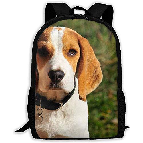 Mochila única Unisex para Adultos Beagle de limón y Blanco, Mochilas Escolares para Deportes de Ocio, Mochilas de Viaje