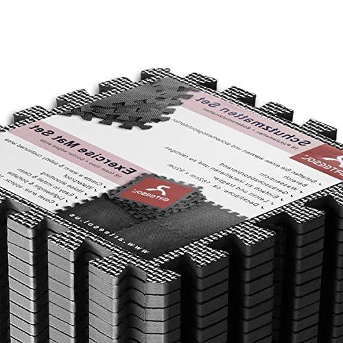 arteesol Schutzmatte Fitnessgeräte Bodenschutzmatte Puzzlematten - 18 Puzzle Schalldämpfend Wasserdichte Anti-rutsch Trainingsmatten Unterlegmatte Bodenauflagen Gymnastikmatten(30*30cm : 18pcs)