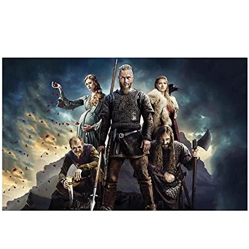 Zplbdw Vikings - Manifesto dello Spettacolo stagionale della Serie TV drammatica storicaper la Decorazione del Soggiorno -50x70cmx1pcs -Nessuna Cornice