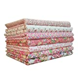 Demino 7pcs/Set Cotton Fabric For Sewing Quilting Patchwork Home Textile Cotton Fabric Bundles,7pcs Cotton Pink Series Tilda Doll Body Cloth