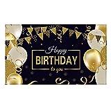 Geburtstag Party Dekoration Glücklich 30. 40. 50. Geburtstag Party Dekoration, Extra Große Stoff Zeichen Poster für Alles Gute zum Geburtstag Hintergrund Banner, Alles Gute zum Geburtstag...