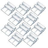 Nothers GZcaiyun - 20 tapas de cristal acrílico para acuario, 6 mm, transparentes, para acuario sin bordes