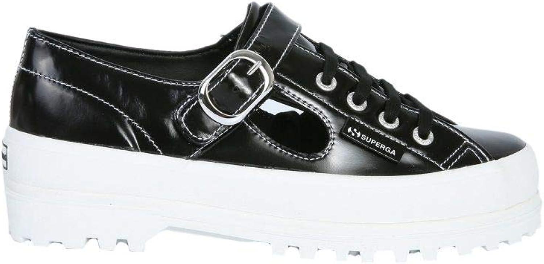 SUPERGA X ALEXA CHUNG Women's S00ECR02254909 Black Leather Sneakers