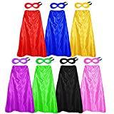 Superhero Capes and Masks for Adults Bulk -...