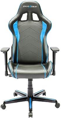 DXRacer OH/FH08/NB F08-NB Silla, Poliuretano, Negro/Azul, Medium