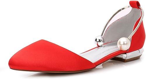 Zxstz Chaussures à tête Ronde Ronde Femmes Chaussures Nuptiale Dentelle Satin Bas Talon Fête Danse Chaussures de Mariage Fleur Chaussures