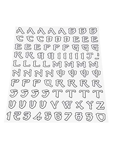 4R Quattroerre.it 1230 Kit Lettere Adesive Monster Graffio