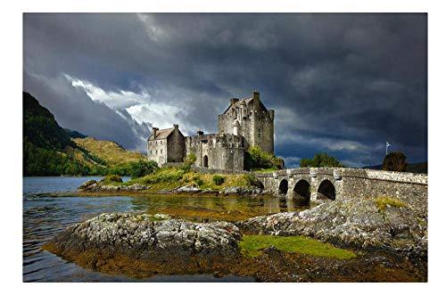 YKCKSD 1000 Piezas de Rompecabezas Regalos artesanales para Adultos Juguetes de Madera clásicos Castillo de Eilean Donan, Escocia