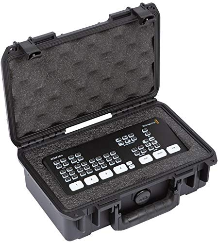 SKB Cases 3i-10063ATM iSeries Blackmagic Design ATEM Mini Case Fits Blackmagic Design ATEM Mini or ATEM Mini Pro, Ultra High-Strength Polypropylene Copolymer Resin, Patented Trigger Latches