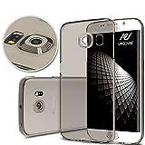 Urcover Funda Transparente para Samsung Galaxy S6 Edge | Carcasa Protectora Cámara TPU Flexible Ultra Fina 0,3 mm en Gris