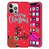 Pnakqil Navidad Funda para OnePlus 6T 6,41',Antichoque Rojo Suave Silicona Carcasa con Diseño de Patrones Navideños Protectora Case Compatible con OnePlus 6T, Ciervos