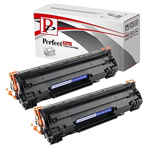 Perfect Print - 2 cartucce di toner compatibile HP CE285A 85A per HP LaserJet PRO M1130 M1132 M1210 M1210MFP M1212NF M1213NF P1100 P1102 P1102W
