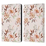 Head Case Designs Ufficiale Anis Illustration Lisianthus Beige Modello Fiore 3 Cover in Pelle a Portafoglio Compatibile con Apple iPad Air 2 (2014)