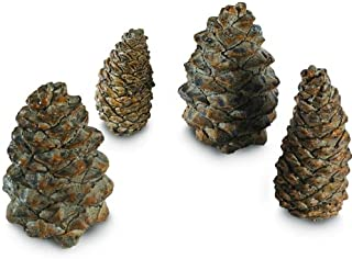 Peterson Gas Logs Decorative Ceramic Pine Cones In Assorted Sizes - Set Of 4 by Peterson Real Fyre