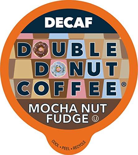 Double Donut Medium Roast Decaf Coffee Pods, Mocha Nut Fudge Flavored, for Keurig K-Cup Machines, 80 Single-Serve Capsules per Box