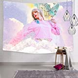 My Loves Girls Pink Top Home Tapestries 3D Printing ArtWork Blanket Wall Hanging Bedroom Living Room Dorm Decor Fabric 51.2 x 59.1 Inch