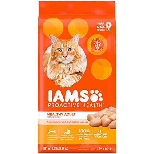 IAMS PROACTIVE HEALTH Adult Healthy Dry Cat Food with Chicken, 3.5 lb....