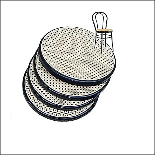 Replacement de Fauteuil Bistrot Metal FACILCASA - Siège Rond, (Diamètre 41cm - Nr. 4 Anneau Noir)