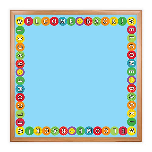 Hygloss Products Welcome Back Die-Cut Bulletin Board Border – Classroom Decoration – 3 x 36 Inch, 12 Pack (33613)