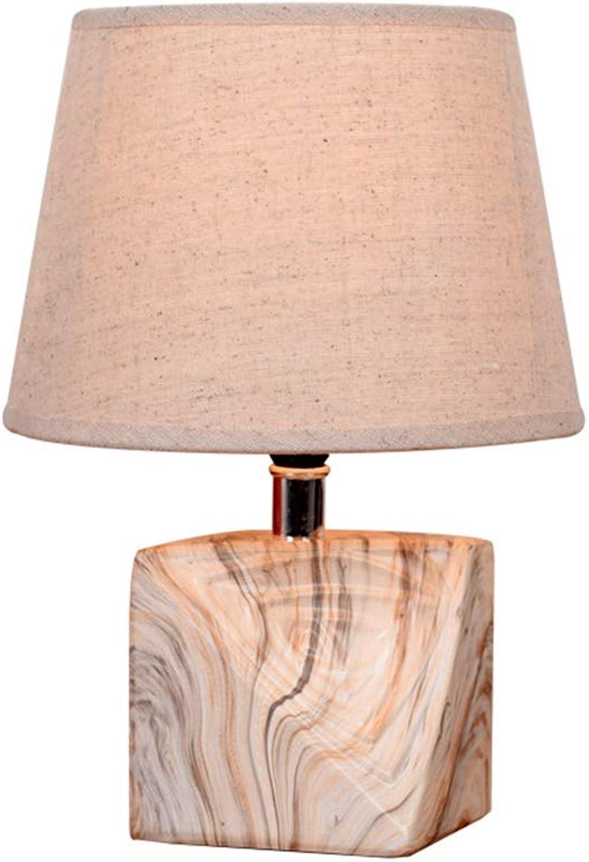 Nordic Table Lamp Ceramic Base Bedside Desk Lampe Kreative handgefertigte Geschenk-Dekoration-Lampen für Schlafzimmer Living Room Hotel
