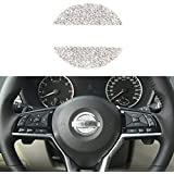 TopDall Bling Steering Wheel Unique Crystal Decal Decoration Cover Sticker for Nissan
