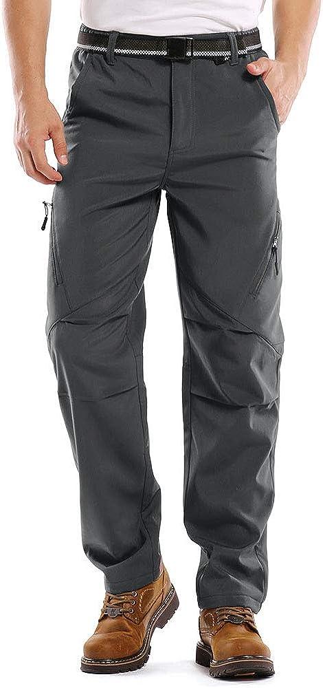 Outdoor Snow Ski Fishing Fleece Lined Insulated Soft Shell Winter Pants Jessie Kidden Mens Waterproof Hiking Pants