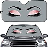ELEQIN Woman Eye with Long Eyelashes Front Windshield...