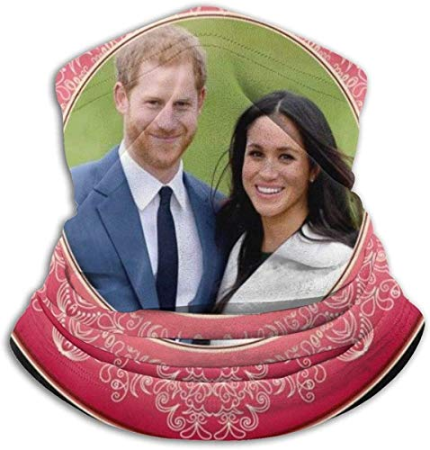 Red Harry and Meghan Royal Wedding Decorative Plate Face Mask Bandanas for Dust, Outdoors, Festivals, Sports