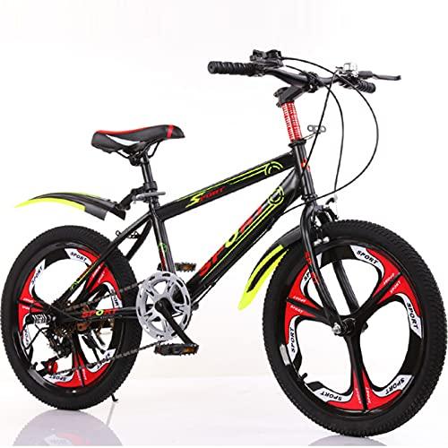 DWXN Chicas 20 Pulgadas Bicicleta Velocidad Variable Velocidad 3-Ruedas Deporte Amortiguador Bicicleta Bicicleta Bicicleta Bicicletas De Carretera Sin Cesta Marco