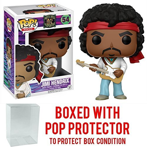 Funko Pop! Rocks: Music - Jimi Hendrix Woodstock #54 Vinyl Figure (Includes Pop Box Protector Case)