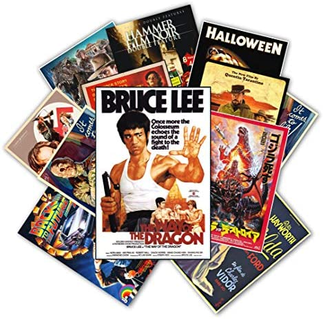 HK Studio Vintage Posters of Retro Movie Self Adhesive Vinyl Decal Indie Posters for Room Aesthetic product image