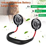 Shelzi Neck Hanging Cooler Charging Mini Sports Fan, 3 Gears Air Conditioner Cooling