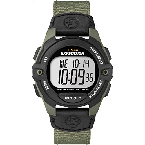 Timex Men's T49993 Expedition Full-Size Digital CAT Green/Black Mixed Material