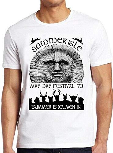Summerisle Festival T Shirt May Day 70s The Wickerman Retro Tee 29,Women,L