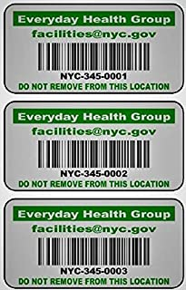 LabelsUrWay Tool and Equipment Asset Tags on Heavy Duty Metalized Polyester with Hi Strength...