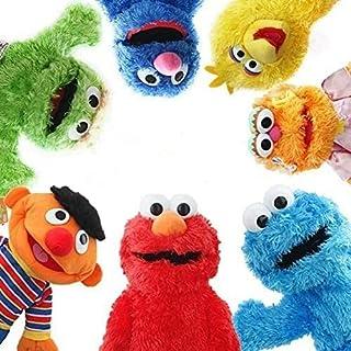 Detazhi Hand Puppets 7pcs/Set 22-32 cm Hand Puppet Plush Toys Big Bird Stuffed Plush Toy Doll Gift for Kids Plush Puppets